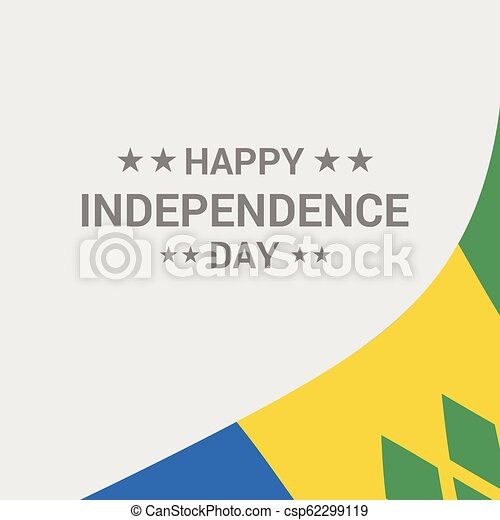 Saint Vincent and Grenadines Independence day typographic design with flag  vector