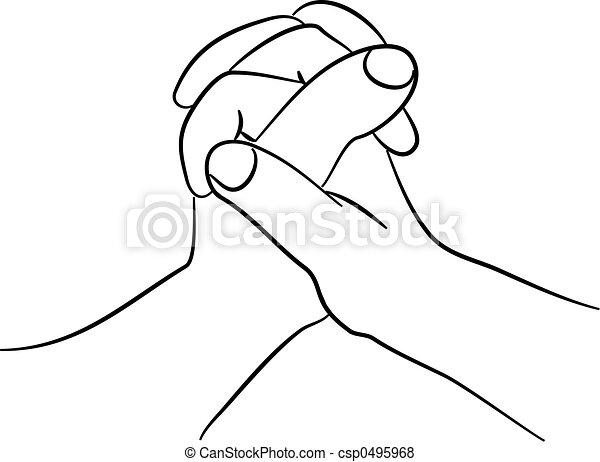 Saisir mains simple deux ensemble dessin mains ligne serrer - Dessins mains ...