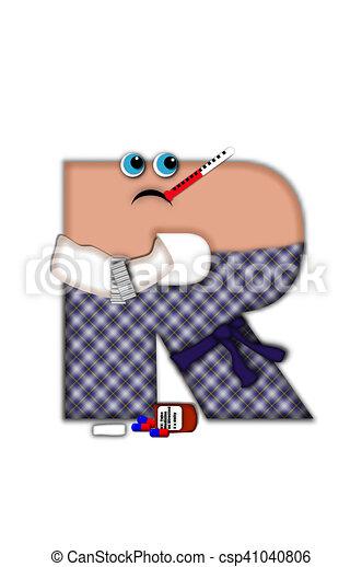 saison, grippe, alphabet, r - csp41040806