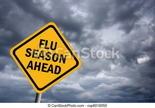 saison, grippe, devant - csp6016055