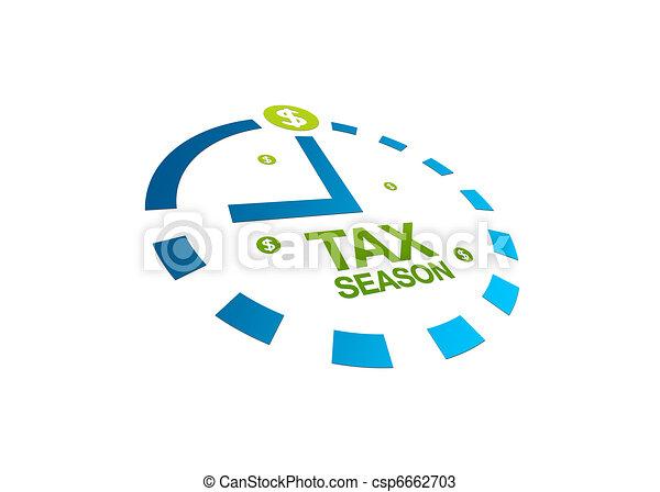 saison, impôt, perspective - csp6662703
