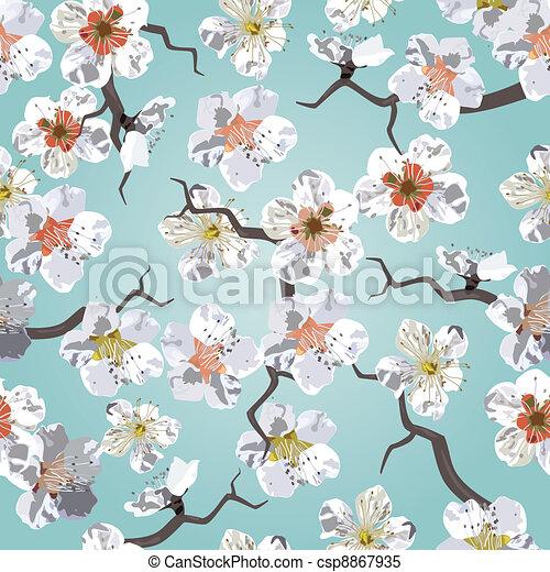 Sakura seamless pattern - csp8867935