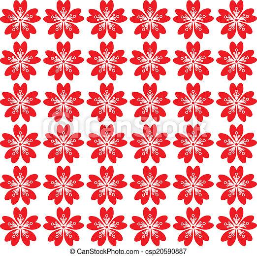 Sakura seamless pattern - csp20590887