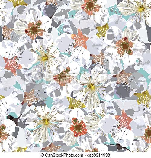 Sakura seamless pattern - csp8314938
