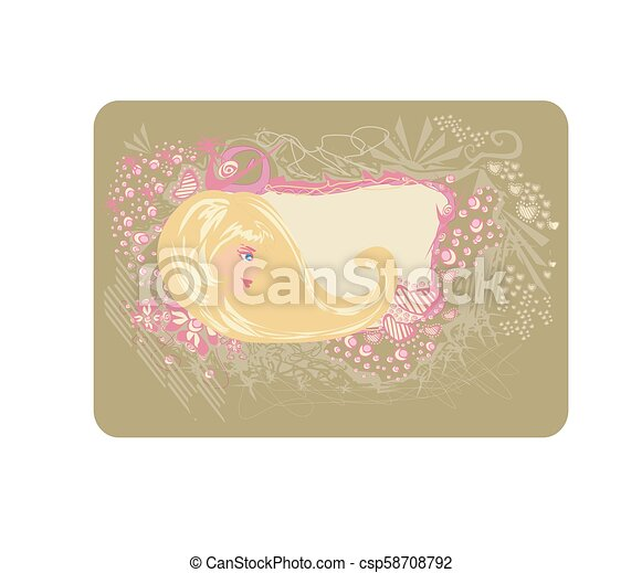 salão, cartão, cabeleireiras - csp58708792