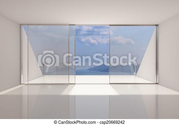Área de salón moderna y vacía - csp20669242
