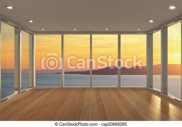 Área de salón moderna y vacía - csp20669285