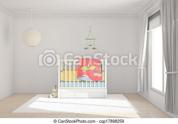 sala, crianças, brinquedos - csp17898259