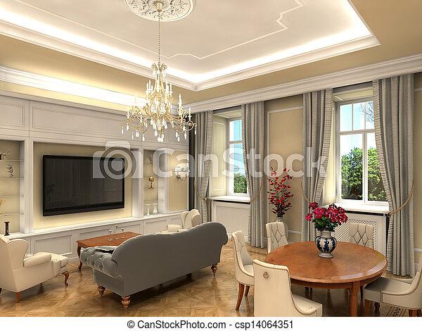 sala de estar - csp14064351
