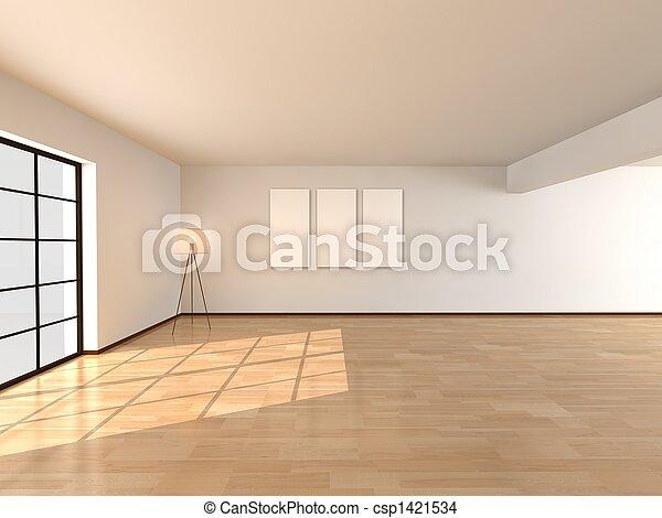 Interior, sala de estar, arquitectura - csp1421534
