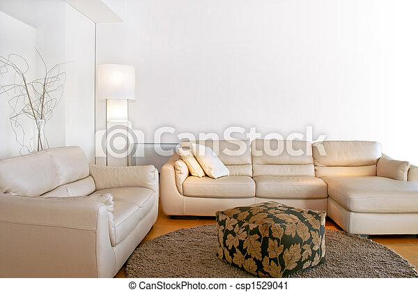 sala, luminoso, vivendo - csp1529041