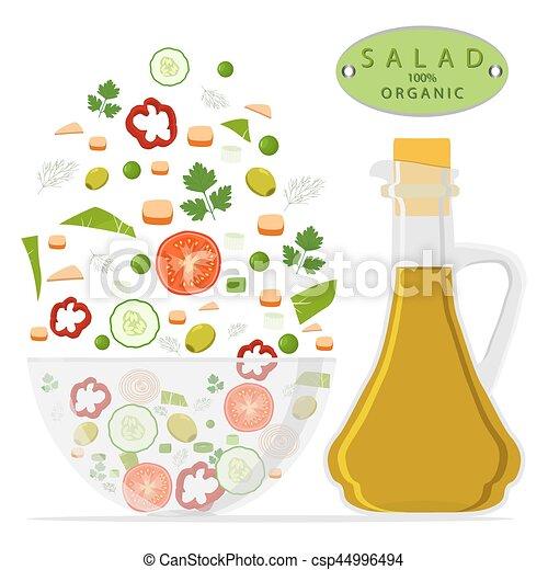 salad chopped in bowl - csp44996494