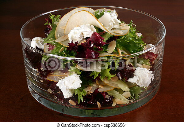 Salad in glass - csp5386561