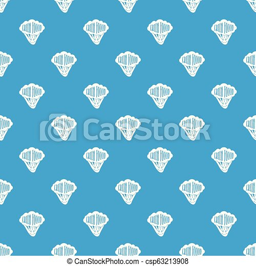 Salad pattern vector seamless blue - csp63213908
