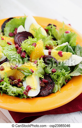 salad with haulms - csp23985046