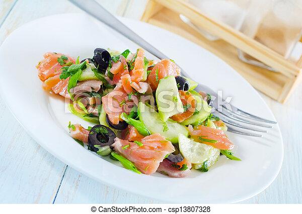 salad with salmon - csp13807328