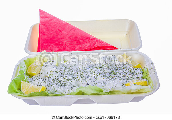 salad with sour cream and dill - csp17069173