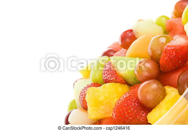 salada fresca fruta, copyspace - csp1246416