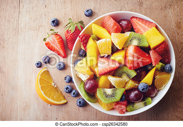 salada fresca fruta - csp26342580