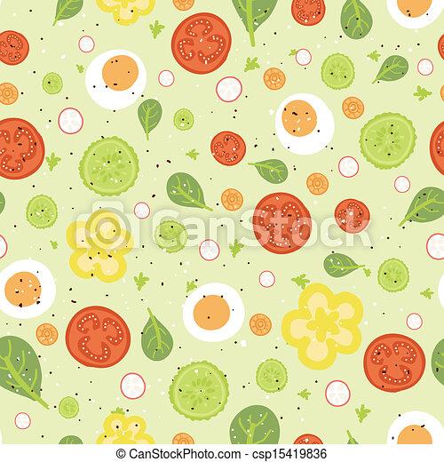 salade, frais, seamless, modèle fond - csp15419836