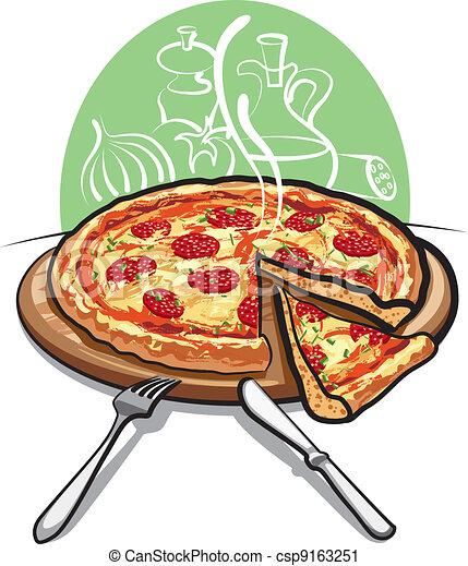 Salame Pizza
