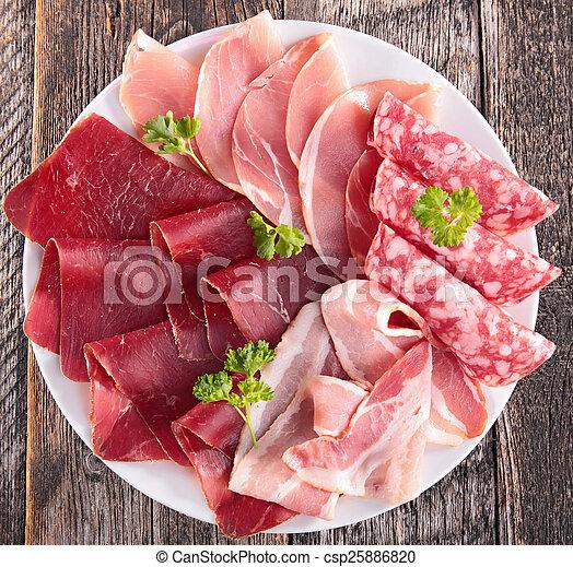 salami, bacon - csp25886820