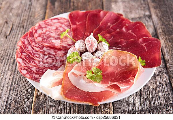 salami, bacon - csp25886831