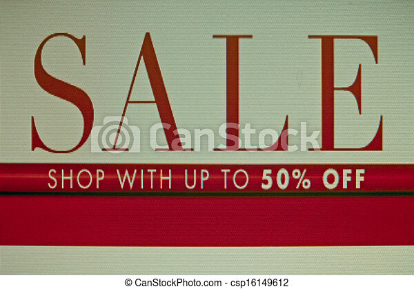 Sale and discount concept - csp16149612