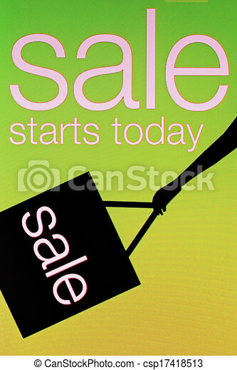 Sale and discount concept - csp17418513