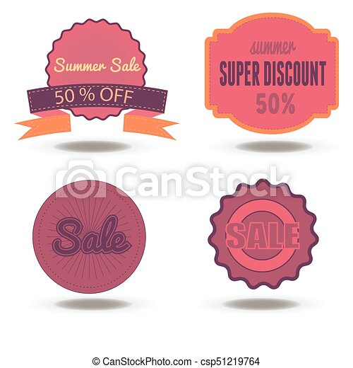 sale badge discount tag vector label promotion price offer isolated