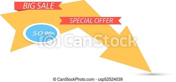 Venta de banner. Oferta especial. - csp52524039