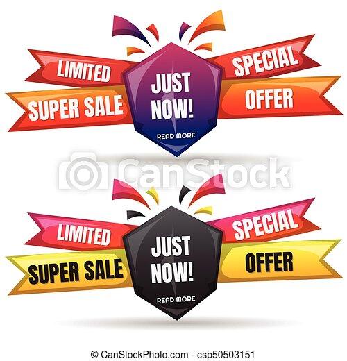 Sale Banner Design Template - csp50503151