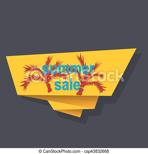 sale banner template design - csp43832668