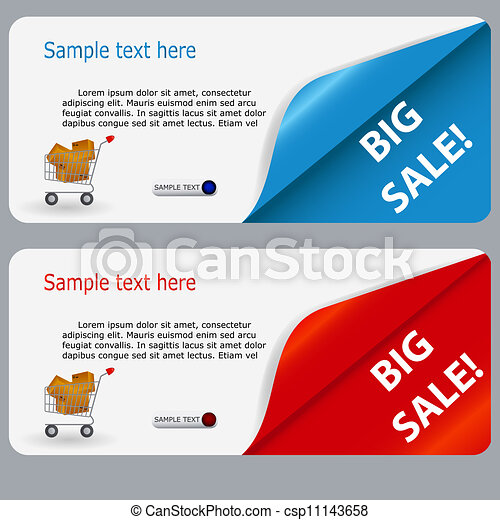 Sale banner with place for your text. vector illustration - csp11143658