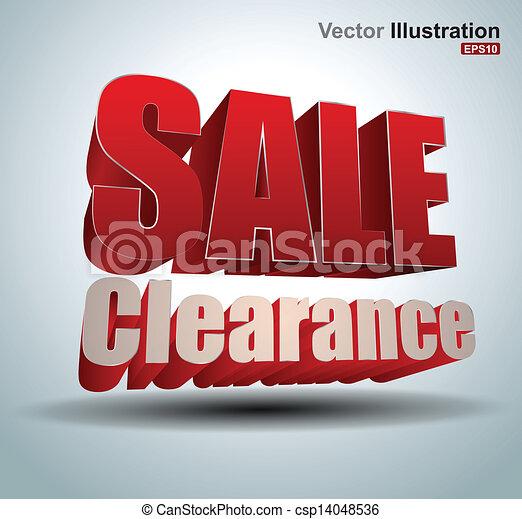 Sale clearance - csp14048536