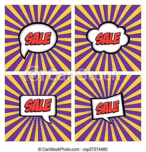 Sale comic expressions - csp37274480