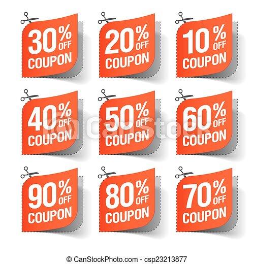 Sale coupons - csp23213877