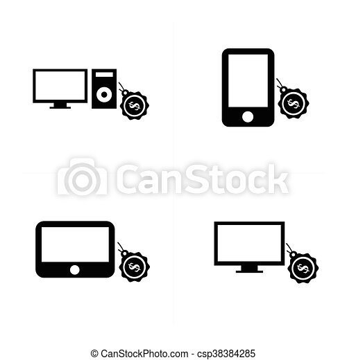 sale Digital devices icon - csp38384285