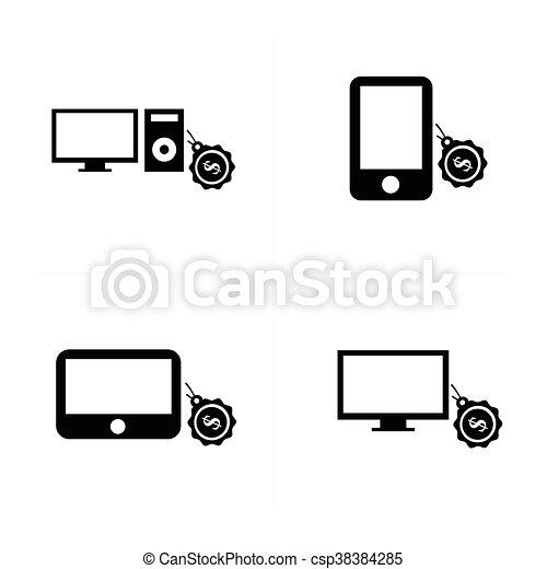 sale Digital devices icon - csp38384285