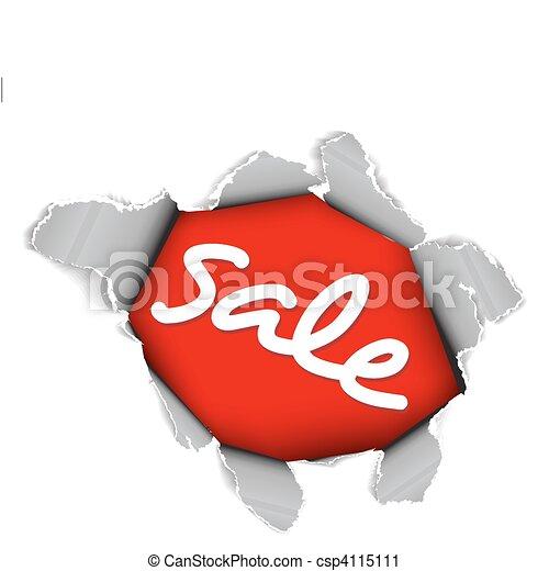 Sale discount advertisement - csp4115111