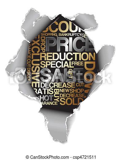 Sale discount advertisement - csp4721511