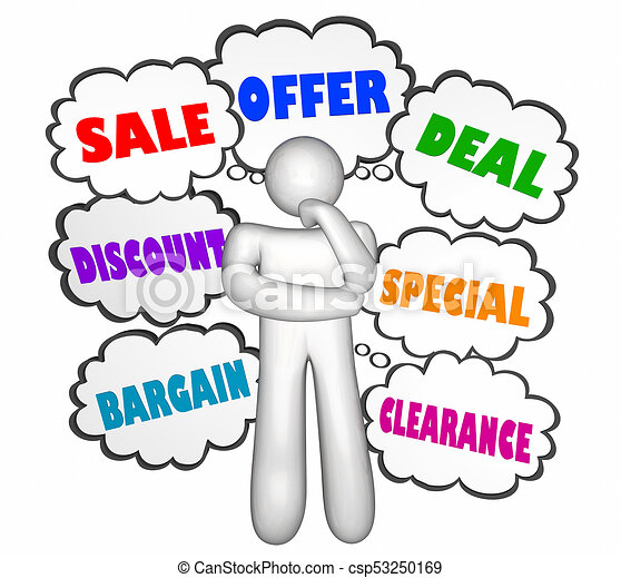 sale discount deal thinker thought clouds buying options 3d stock rh canstockphoto ca think clip art images think clip art images
