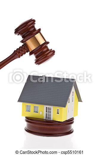 sale., forclusion, être, maison, auctioned., volonté - csp5510161