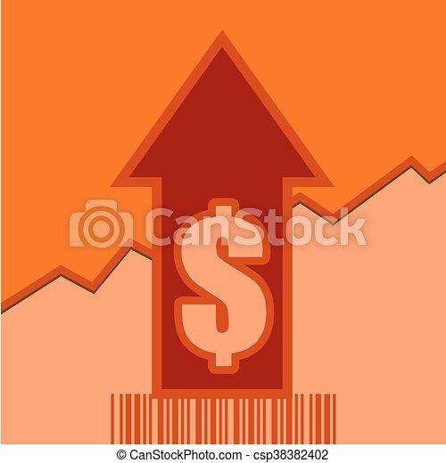 Sale grow up arrow and bar code - csp38382402