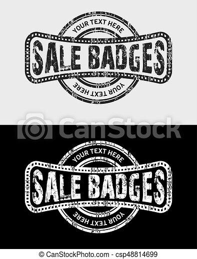 Sale Grunge Vintage Logo & Badges - csp48814699