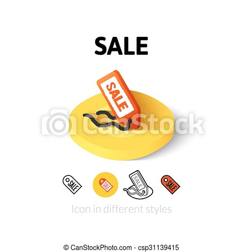 Sale icon in different style - csp31139415