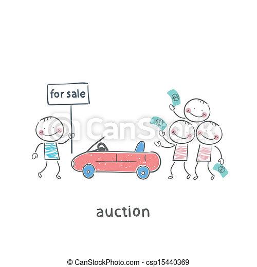 Sale of automobiles - csp15440369