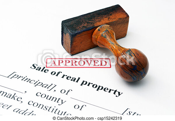 Sale of real property concept - csp15242319