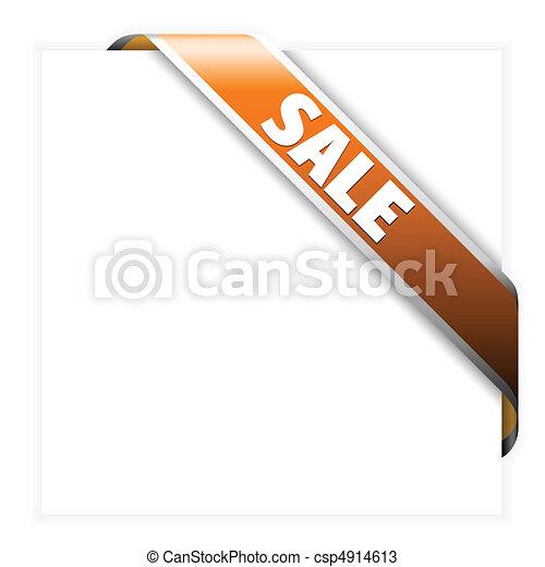 Sale orange corner ribbon - csp4914613