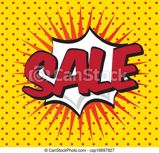 sale pop art explosion over dotted background vector illustration